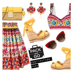 """""""Pack and Go: Cuba!"""" by dressedbyrose ❤ liked on Polyvore featuring Dolce&Gabbana, Ranjana Khan and MICHAEL Michael Kors"""