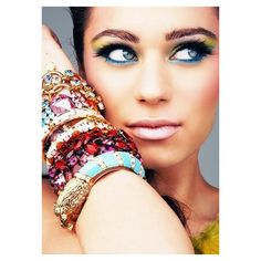 Jewelry ❤ liked on Polyvore featuring models, people, backgrounds, makeup and pictures