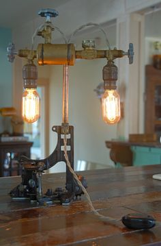 Industrial Steampunk Antique Lamp