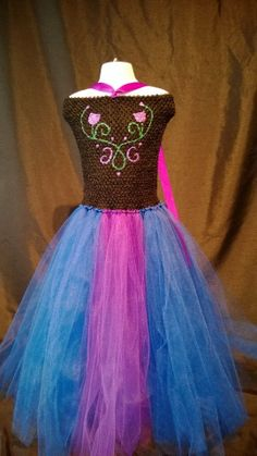 anna frozen tutu dress by Bellatutuboutique on Etsy, $65.00