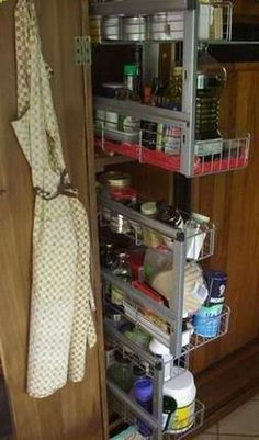 Pantry inside showing the IKEA slide out drawers. Incredibly convenient.