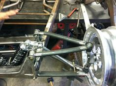 Custom hot rod front suspension
