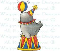 Circus Seal - Circus - Rubber Stamps - Shop