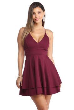 Burgundy Late Night Fantasy Dress