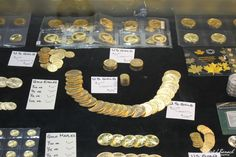 Gold Coin Display at the Maryland Coin Show 2015, check out more pix and plan to be here for the 2016 Coin Show in Ocean City MD ...  #coinshow #oceancitycool