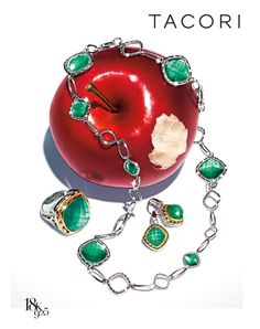 Behold, The Apple!...  Paralleling fashions hottest color at the time, green is one of the dominant colors.