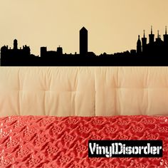 Lyon France Skyline Vinyl Wall Decal or Car Sticker SS128