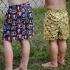 Fishsticks Designs Oh, Boy! Boxers Sewing Pattern - Girl Charlee