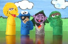 seasmes street finger puppets | Sesame Street Finger Puppet Set includes 8 by SaturdayMorningTracy, $ ...