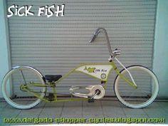 Bicicleta chopper Sick Fish...! : Otro modelo que se entrega, la Sick Fish del modelo Old School.    Espero les guste, cuadro verde pastel, aros cremita, cubiertas banda blanca, manubrio chopper old school.    Saludos a todos y buen finde, willy delgado. DCC    www.delgado-chopper-cycles.blogspot.com   delgado_chopper