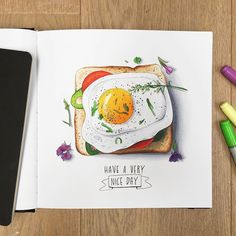 Живопись/Скетчи felix b underwear - Under Wear Copic Marker Drawings, Sketch Markers, Marker Art, Food Illustrations, Illustration Art, Watercolor Food, Copic Art, Food Drawing, Copics