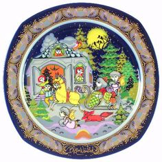 """Jingle Bells"" Bjørn Wiinblad, 1984 Rosenthal Christmas Carol Plate (1983-1994)"