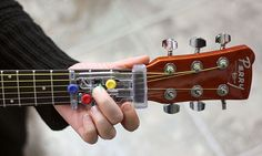 The Chord Buddy is the best way to learn guitar in no time.This device can fit any guitar may be electric or acoustic and makes it easy to play chords.