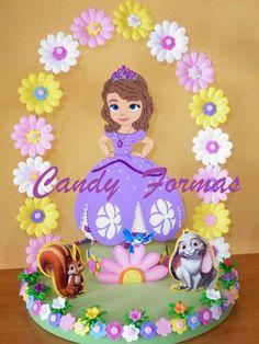 Centro de Mesa Candy Themed Party, Party Themes, Family Crafts, Christmas Crafts For Kids, Disney Princess Cookies, Princess Sofia Birthday, Ideas Para Fiestas, Birthday Design, Mickey Mouse Birthday