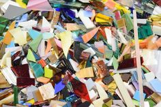 Buy One Get One Free:  2 lb Stained Glass Mosaic Scrap Pieces