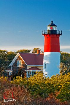 Nauset Lighthouse in Eastham, Cape Cod has open house tours on Sundays May-October and Wednesdays July & August Massachusetts TWELVE Cape Cod, Wonderful Places, Beautiful Places, Beautiful Lights, Nature Sauvage, Lighthouse Pictures, Am Meer, Nantucket, Coastal Living
