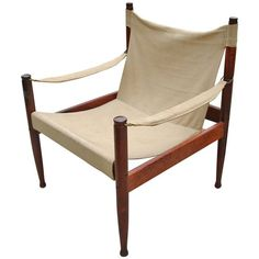 1stdibs.com   Rare Illum Wikkelso Danish Modern Safari Chair