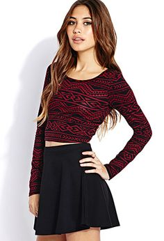 Globetrotter Crop Top | FOREVER 21 - 2000089877