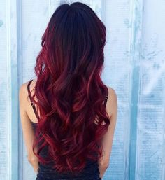 Black to red hair #WomenHairstylesRed
