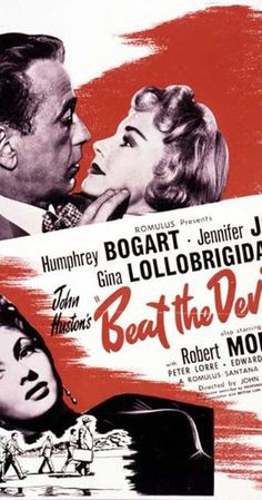 Directed by John Huston. With Humphrey Bogart, Jennifer Jones, Gina Lollobrigida, Robert Morley. On their way to Africa are a group of rogues who hope to get rich there, and a seemingly innocent British couple. They meet and things happen...