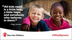For less than a $1 a day, you can change the life of a child by becoming a child sponsor. Sponsorship ensures that a child in need has the best chance for success – with a healthy start, the opportunity to learn and protection from harm. Your generosity helps your sponsored child and lifts entire communities. #WhyISponsor