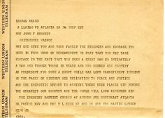 Condolence letter to Jackie Kennedy from Dr. Martin Luther King on JFK's assassination http://www.rosettabooks.com/ebook/jfks-final-hours-in-texas/