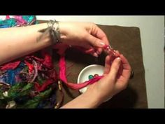 "Great tutorial on making a beaded silk wrap bracelet from recycled ""sari"" silk ribbon scraps. Definitely gonna do & wear the heck out of this!"