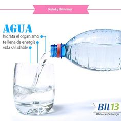 Te comentamos que el agua es uno de los impulsores de energía más eficaces que existen. El estrés y las actividades físicas provocan comúnmente deshidratación, por lo que el agua es perfecta para recuperar la energía perdida. Además, el cuerpo humano esta compuesto aproximadamente por el 70% de agua, porcentaje que varía según la edad de la persona y el estado de salud en que se encuentre.  http://on.fb.me/1KTwDtm #Bil13 #SaludyBienestarBagó
