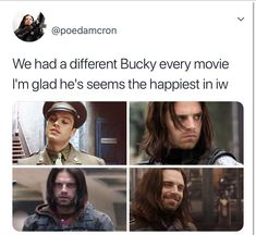 Bucky - Captain America - The Winter Soldier - Civil War - Infinity War