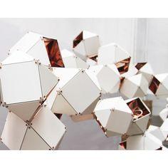 Welles Long Chandelier – 23 unit by Gabriel Scott Suspended Lighting, Modern Lighting, Pendant Lighting, Metropolis Magazine, Origami, Black Ceiling, Black Chandelier, Light Decorations, Midcentury Modern