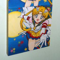 Hand painted Usagi/ Sailor moon 30x30cm ♥ Sailor Moon, Fanart, Hand Painted, Painting, Painting Art, Sailor Moons, Fan Art, Paintings, Painted Canvas