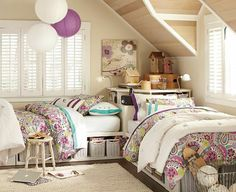 Bedroom interior design has specific elements it focuses on, in order to give your bedroom, the energy, it deserves.Here area a great bedroom decor ideas Beds For Small Rooms, Small Room Bedroom, Room Decor Bedroom, Bedroom Ideas, Bed Ideas, Two Girls Bedrooms, Twin Girls, Attic Bedrooms, Dorm Room Layouts
