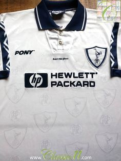 Relive Tottenham Hotspur's season with this vintage Pony home football shirt. Football Uniforms, School Football, London Pride, White Hart Lane, Classic Football Shirts, Tottenham Hotspur Fc, Football Memorabilia, League Gaming
