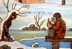 in snow Czech Republic, Painters, Underwater, Illustrators, Scary, The Past, Creatures, Snow, Retro
