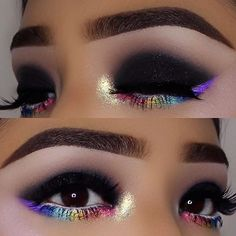 Gorgeous Makeup: Tips and Tricks With Eye Makeup and Eyeshadow – Makeup Design Ideas Black Eye Makeup, Eye Makeup Tips, Smokey Eye Makeup, Makeup Goals, Makeup Inspo, Makeup Art, Makeup Inspiration, Sleek Makeup, Makeup Guide