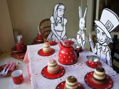 Alice in Wonderland.... like the cutouts... may do something like that for the Queens army of cards