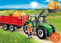 Großer Traktor mit Anhänger - 6130 - PLAYMOBIL® Deutschland