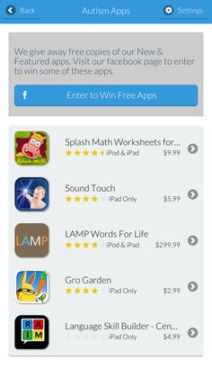 Autism Apps by Touch Autism is simply a comprehensive list of apps that are being used with and by people diagnosed with autism, Down syndrome and other special needs.