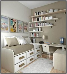 ~ Modern Diy Storage For Small Bedrooms & Light Chocolate Wall With ... repinned by https://www.pinterest.com/PinsByBecky/