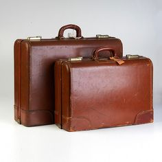 Suitcases, Tweed and 1940s on Pinterest