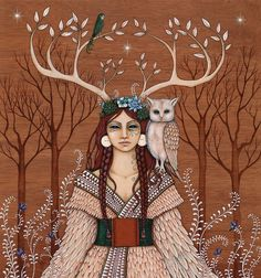 MoonMedicine - She Wears the Crown : Deer Medicine and the Antlered Women