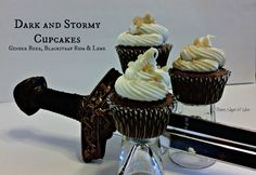 Bronn - Dark and Stormy Cupcakes - Ginger Beer & Blackstrap Rum Cake with Lime Cream Cheese Frosting - Game of Thrones Series by Booze, Sugar & Spice