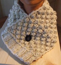 Knitted cowl  Short scarf  Short scarflette  Knitted by WoolieBits