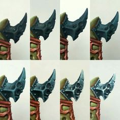 How To Paint: Cool effects on weapons Warhammer Paint, Warhammer Fantasy, Minis, Figure Painting, Painting Steps, Fantasy Figures, Warhammer 40k Miniatures, Fantasy Miniatures, Step By Step Painting