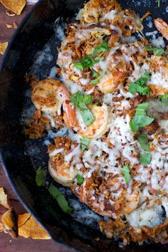 Cheesy baked shrimps from Realistic Nutritionist