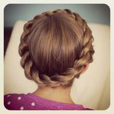 Crown Twist...a new fav variation on the crown braid!  #CGHCrownTwist