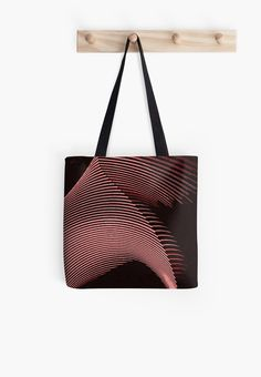 Red waves, line art, curves, abstract pattern • Also buy this artwork on bags, apparel, stickers, and more.