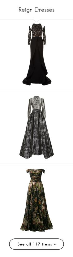 """""""Reign Dresses"""" by fandoms-styles ❤ liked on Polyvore featuring dresses, gowns, long dress, floor length evening dresses, long mesh dress, beaded dress, embellished gown, long beaded dress, carolina herrera and beige formal dress"""