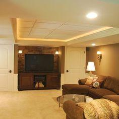 Small Cozy Basement Design