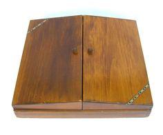 Vintage Wooden Storage Box Community Flatware by OurModernHistory
